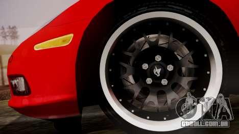 Chevrolet Corvette Z51 Another Itasha para GTA San Andreas traseira esquerda vista