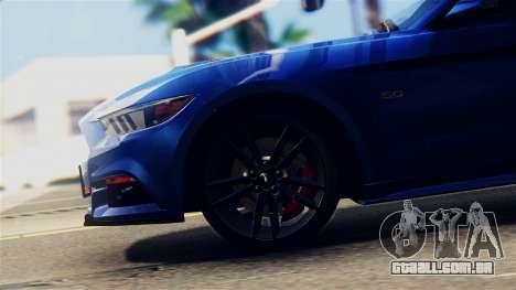 Ford Mustang GT 2015 Stock Tunable v1.0 para GTA San Andreas vista traseira
