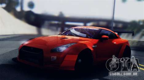 Nissan GT-R R35 LW para GTA San Andreas