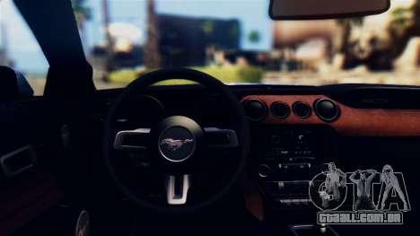 Ford Mustang GT 2015 Stock Tunable v1.0 para GTA San Andreas vista interior