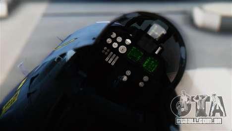 F-14J Super Tomcat JASDF para GTA San Andreas vista traseira