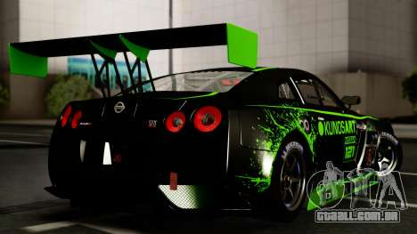 Nissan GT-R (R35) GT3 2012 PJ4 para GTA San Andreas vista interior