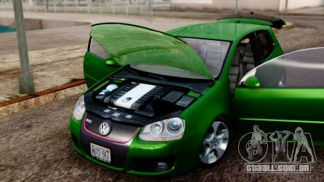 Volkswagen Golf Mk5 GTi Tunable PJ para GTA San Andreas vista traseira
