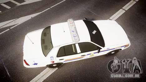 Ford Crown Victoria RCMP Campbellton [ELS] para GTA 4 vista direita