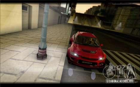 Mitsubishi Lancer Evolution IX Street Edition para GTA San Andreas esquerda vista