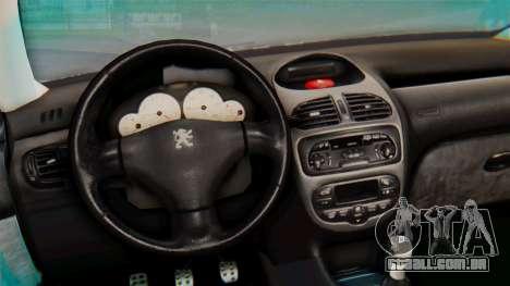 Peugeot 206 Coupe Police para GTA San Andreas vista traseira