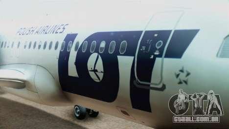 LOT Polish Airlines Airbus A320-200 (New Livery) para GTA San Andreas vista traseira