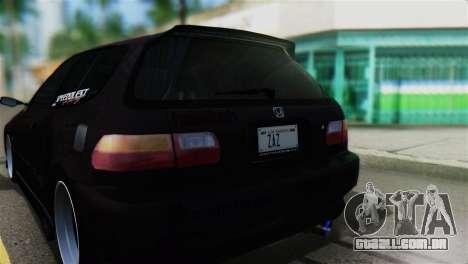Honda Civic EG6 Kotomi Clannad Itasha para GTA San Andreas vista traseira