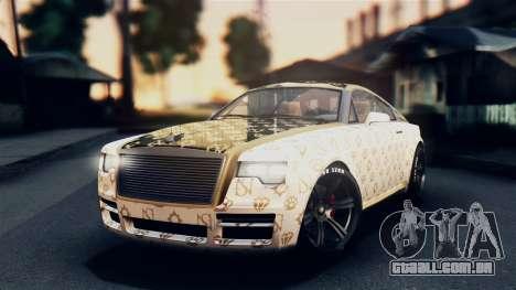 GTA 5 Enus Windsor para GTA San Andreas vista interior