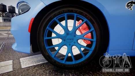 Dodge Charger SRT 2015 Hellcat para GTA 4 vista de volta