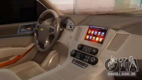 Chevrolet Suburban 2015 para GTA San Andreas vista direita
