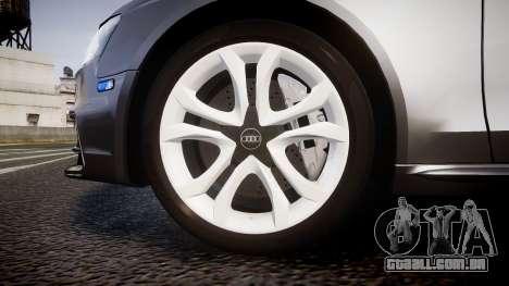Audi S4 Avant Unmarked Police [ELS] para GTA 4 vista de volta