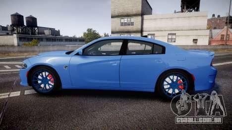 Dodge Charger SRT 2015 Hellcat para GTA 4 esquerda vista