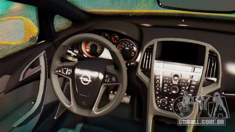 Opel Astra J OPC para GTA San Andreas vista traseira
