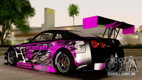 Nissan GT-R (R35) GT3 2012 PJ4 para GTA San Andreas vista direita