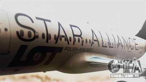 LOT Polish Airlines Airbus A320-200 para GTA San Andreas vista traseira