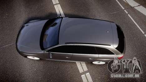 Audi S4 Avant Unmarked Police [ELS] para GTA 4 vista direita