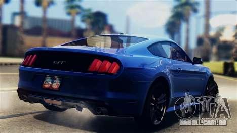 Ford Mustang GT 2015 Stock Tunable v1.0 para GTA San Andreas esquerda vista
