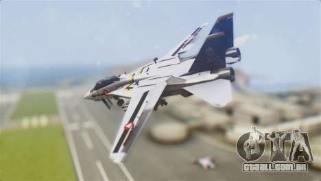 F-14D Tomcat Macross Yellow & Black para GTA San Andreas esquerda vista