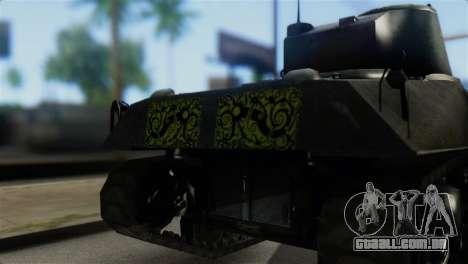 M4 Sherman Gawai Special 2 para GTA San Andreas vista traseira