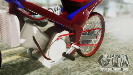 Dream 110 cc of Thailand para GTA San Andreas vista traseira