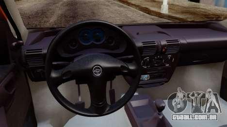 Chevrolet Corsa Classic 2009 v2 para GTA San Andreas traseira esquerda vista