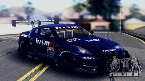 Nissan GT-R (R35) GT3 2012 PJ5 para GTA San Andreas vista inferior