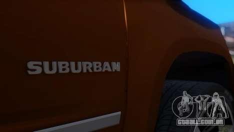 Chevrolet Suburban 2015 para GTA San Andreas vista traseira