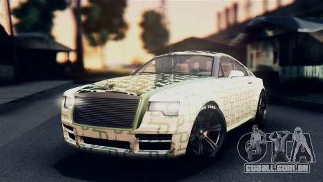 GTA 5 Enus Windsor para GTA San Andreas vista superior