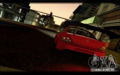 Mitsubishi Lancer Evolution IX Street Edition para GTA San Andreas vista direita