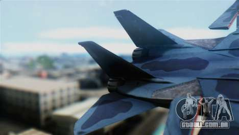 F-14J Super Tomcat JASDF para GTA San Andreas traseira esquerda vista