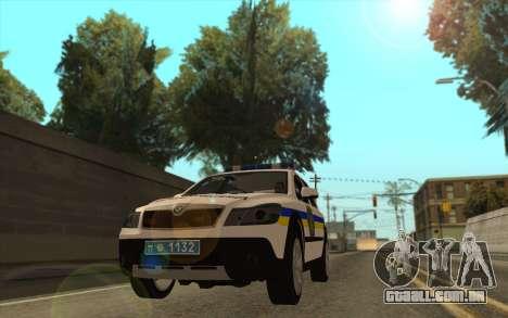 Skoda Octavia Scout DPS Ucrânia para GTA San Andreas traseira esquerda vista