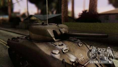 M4 Sherman v1.1 para GTA San Andreas vista traseira