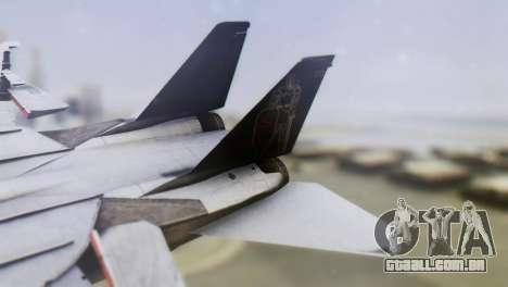 Grumman F-14A Tomcat para GTA San Andreas traseira esquerda vista