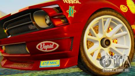 GTA 5 Vapid Dominator Pisswasser SA Lights para GTA San Andreas traseira esquerda vista