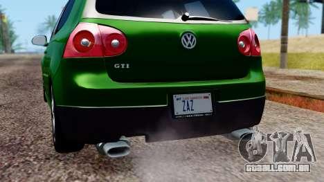 Volkswagen Golf Mk5 GTi Tunable PJ para o motor de GTA San Andreas