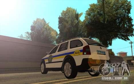 Skoda Octavia Scout DPS Ucrânia para GTA San Andreas esquerda vista
