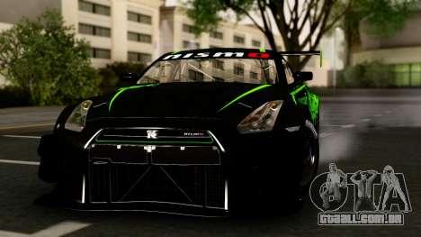 Nissan GT-R (R35) GT3 2012 PJ4 para GTA San Andreas vista traseira