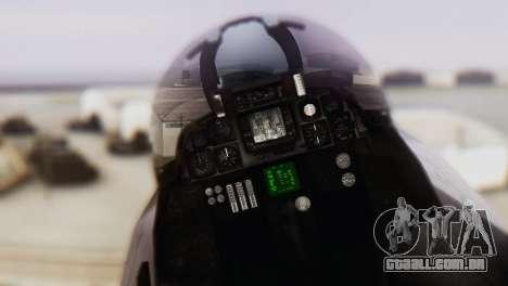 F-14A Tomcat VF-33 Starfighters para GTA San Andreas vista traseira