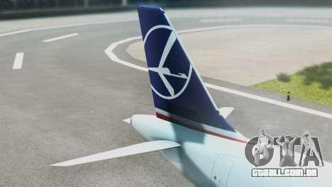 LOT Polish Airlines Airbus A320-200 (New Livery) para GTA San Andreas traseira esquerda vista