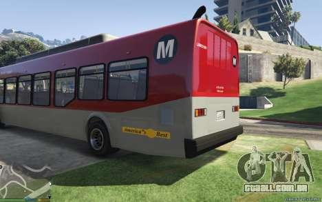 GTA 5 New Bus Textures v2 vista lateral esquerda