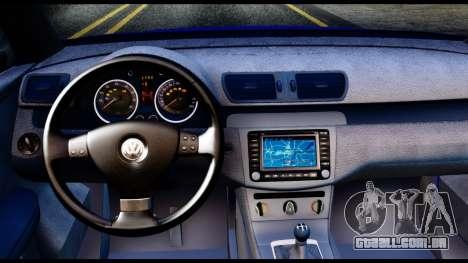 Volkswagen Passat B6 para GTA San Andreas vista traseira