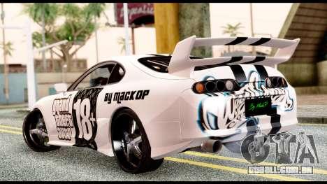 Toyota Supra Full Tuning v2 para GTA San Andreas esquerda vista