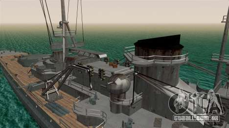 Scharnhorst Battleship para GTA San Andreas vista traseira