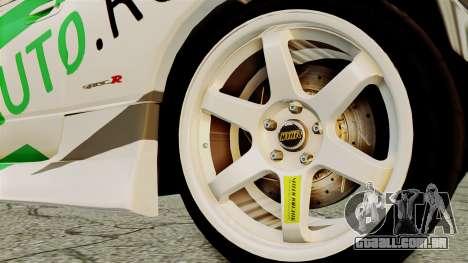 Nissan Silvia S15 24AUTORU para GTA San Andreas traseira esquerda vista