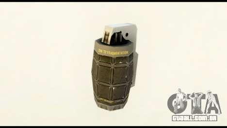 Grenade from Crysis 2 para GTA San Andreas segunda tela