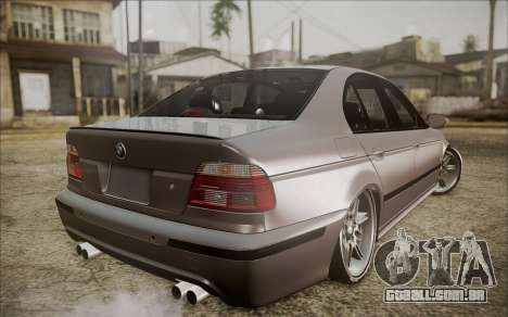 BMW M5 E39 E-Design para GTA San Andreas esquerda vista