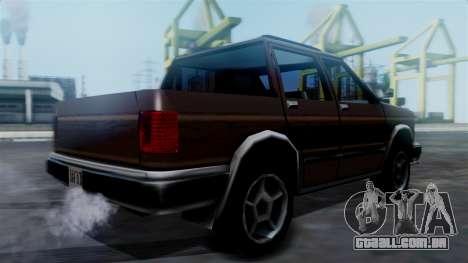 Landstalker Pickup para GTA San Andreas esquerda vista