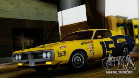 Dodge Charger Super Bee 426 Hemi (WS23) 1971 para GTA San Andreas vista superior