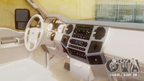 Ford F-350 Super Duty Regular Cab 2008 HQLM para GTA San Andreas vista direita